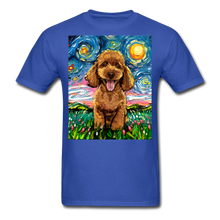 Load image into Gallery viewer, Apricot Poodle Night Unisex Classic T-Shirt - royal blue