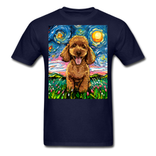 Load image into Gallery viewer, Apricot Poodle Night Unisex Classic T-Shirt - navy