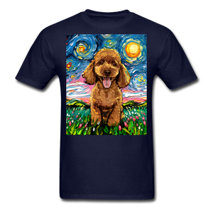 Apricot Poodle Night Unisex Classic T-Shirt - navy
