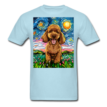 Load image into Gallery viewer, Apricot Poodle Night Unisex Classic T-Shirt - powder blue