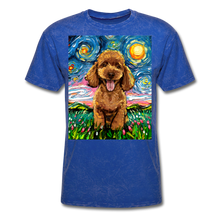 Load image into Gallery viewer, Apricot Poodle Night Unisex Classic T-Shirt - mineral royal