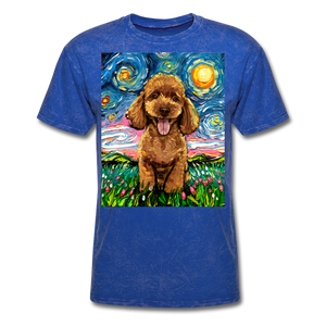 Apricot Poodle Night Unisex Classic T-Shirt - mineral royal