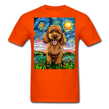 Load image into Gallery viewer, Apricot Poodle Night Unisex Classic T-Shirt - orange