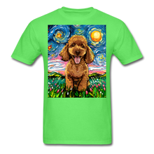 Load image into Gallery viewer, Apricot Poodle Night Unisex Classic T-Shirt - kiwi