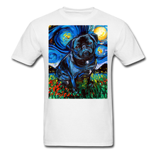 Load image into Gallery viewer, Black Pug Night Unisex Classic T-Shirt - white