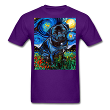 Load image into Gallery viewer, Black Pug Night Unisex Classic T-Shirt - purple