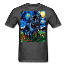 Load image into Gallery viewer, Black Pug Night Unisex Classic T-Shirt - heather black