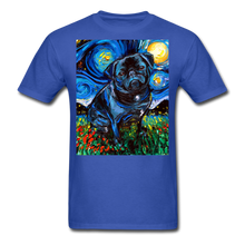Load image into Gallery viewer, Black Pug Night Unisex Classic T-Shirt - royal blue