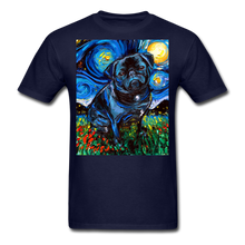Load image into Gallery viewer, Black Pug Night Unisex Classic T-Shirt - navy