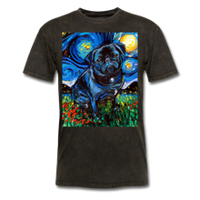 Load image into Gallery viewer, Black Pug Night Unisex Classic T-Shirt - mineral black