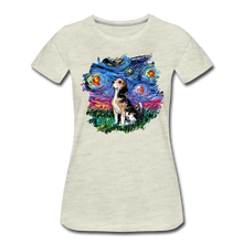Load image into Gallery viewer, Beagle Night Splash Women's Premium T-Shirt - heather oatmeal