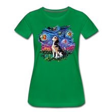 Load image into Gallery viewer, Beagle Night Splash Women's Premium T-Shirt - kelly green
