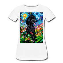 Load image into Gallery viewer, Black Poodle Night 2 Women's Premium T-Shirt - white