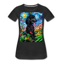 Load image into Gallery viewer, Black Poodle Night 2 Women's Premium T-Shirt - black