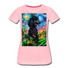 Load image into Gallery viewer, Black Poodle Night 2 Women's Premium T-Shirt - pink
