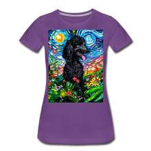 Load image into Gallery viewer, Black Poodle Night 2 Women's Premium T-Shirt - purple