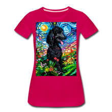 Load image into Gallery viewer, Black Poodle Night 2 Women's Premium T-Shirt - dark pink