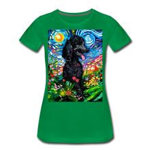 Load image into Gallery viewer, Black Poodle Night 2 Women's Premium T-Shirt - kelly green