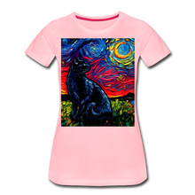 Load image into Gallery viewer, Black Cat Night 2 Women's Premium T-Shirt - pink
