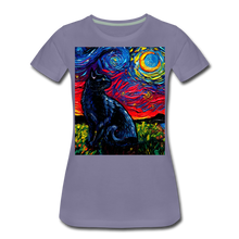 Load image into Gallery viewer, Black Cat Night 2 Women's Premium T-Shirt - washed violet