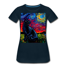 Load image into Gallery viewer, Black Cat Night 2 Women's Premium T-Shirt - deep navy