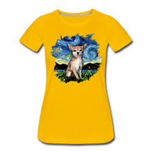 Load image into Gallery viewer, Chihuahua Night Splash Women's Premium T-Shirt - sun yellow