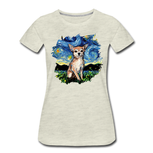 Chihuahua Night Splash Women's Premium T-Shirt - heather oatmeal