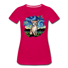 Load image into Gallery viewer, Chihuahua Night Splash Women's Premium T-Shirt - dark pink