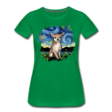 Load image into Gallery viewer, Chihuahua Night Splash Women's Premium T-Shirt - kelly green