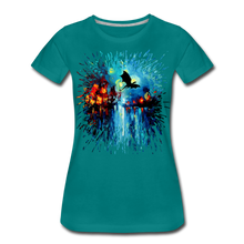 Load image into Gallery viewer, Flight of the Dragon Women's Premium T-Shirt - teal
