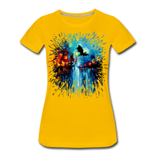 Load image into Gallery viewer, Flight of the Dragon Women's Premium T-Shirt - sun yellow