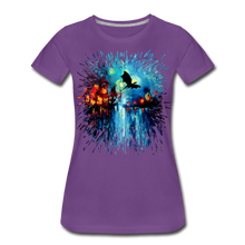 Load image into Gallery viewer, Flight of the Dragon Women's Premium T-Shirt - purple