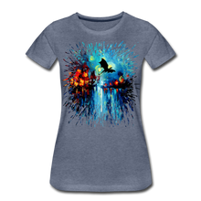 Load image into Gallery viewer, Flight of the Dragon Women's Premium T-Shirt - heather blue