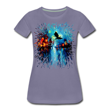 Load image into Gallery viewer, Flight of the Dragon Women's Premium T-Shirt - washed violet