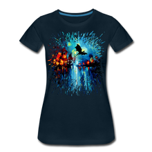 Load image into Gallery viewer, Flight of the Dragon Women's Premium T-Shirt - deep navy