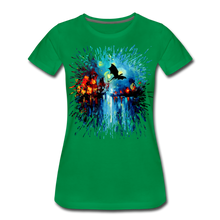 Load image into Gallery viewer, Flight of the Dragon Women's Premium T-Shirt - kelly green