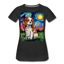 Load image into Gallery viewer, Blenheim Spaniel Night Women's Premium T-Shirt - black