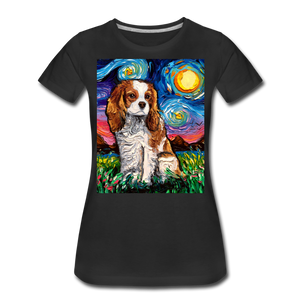 Blenheim Spaniel Night Women's Premium T-Shirt - black