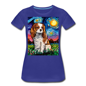 Blenheim Spaniel Night Women's Premium T-Shirt - royal blue