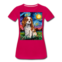 Load image into Gallery viewer, Blenheim Spaniel Night Women's Premium T-Shirt - dark pink