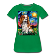 Load image into Gallery viewer, Blenheim Spaniel Night Women's Premium T-Shirt - kelly green