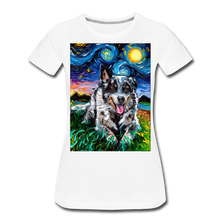 Load image into Gallery viewer, Australian Cattle Dog Night Women's Premium T-Shirt - white