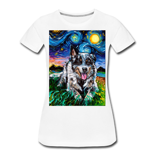 Australian Cattle Dog Night Women's Premium T-Shirt - white
