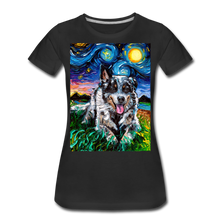 Load image into Gallery viewer, Australian Cattle Dog Night Women's Premium T-Shirt - black