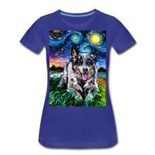 Load image into Gallery viewer, Australian Cattle Dog Night Women's Premium T-Shirt - royal blue