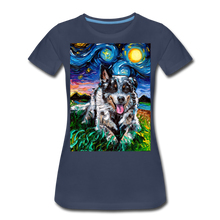Load image into Gallery viewer, Australian Cattle Dog Night Women's Premium T-Shirt - navy