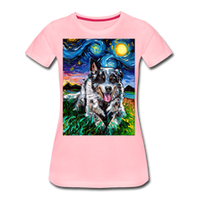 Load image into Gallery viewer, Australian Cattle Dog Night Women's Premium T-Shirt - pink