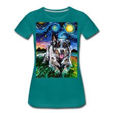 Load image into Gallery viewer, Australian Cattle Dog Night Women's Premium T-Shirt - teal