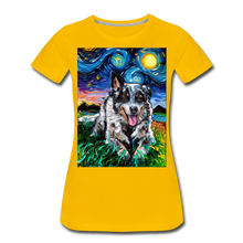 Load image into Gallery viewer, Australian Cattle Dog Night Women's Premium T-Shirt - sun yellow