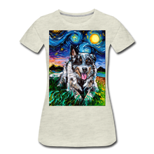 Load image into Gallery viewer, Australian Cattle Dog Night Women's Premium T-Shirt - heather oatmeal